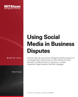 Using Social Media in Business Disputes