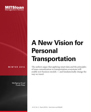 A New Vision for Personal Transportation