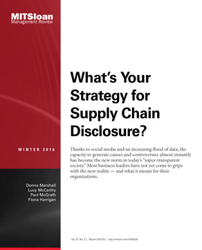 What's Your Strategy for Supply Chain Disclosure?