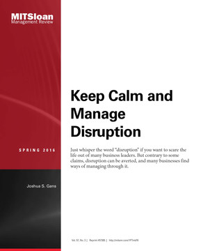 Keep Calm and Manage Disruption