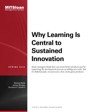 Why Learning Is Central to Sustained Innovation