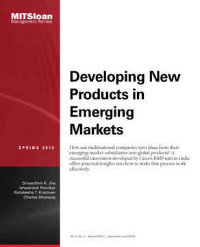 Developing New Products in Emerging Markets