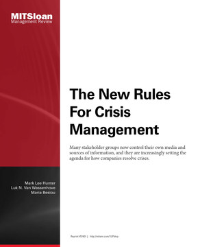 The New Rules for Crisis Management