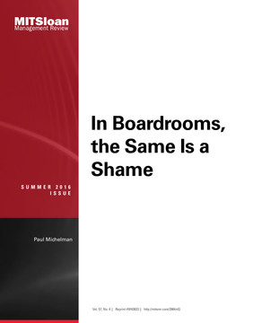 In Boardrooms, the Same Is a Shame