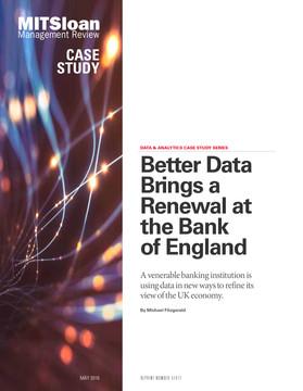 Better Data Brings a Renewal at the Bank of England