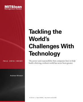 Tackling the World's Challenges With Technology