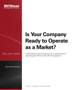 Is Your Company Ready to Operate as a Market?