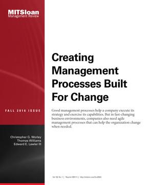 Creating Management Processes Built For Change
