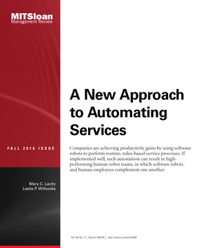 A New Approach to Automating Services