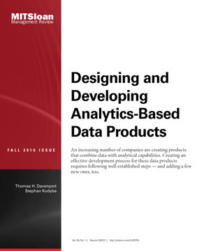 Designing and Developing Analytics-Based Data Products