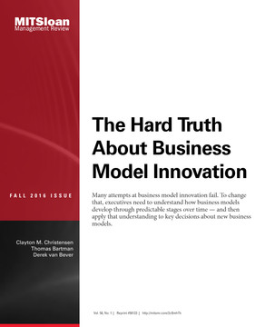The Hard Truth About Business Model Innovation