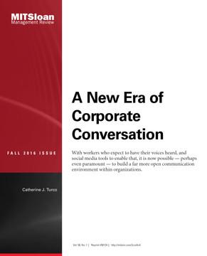 A New Era of Corporate Conversation
