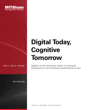 Digital Today, Cognitive Tomorrow