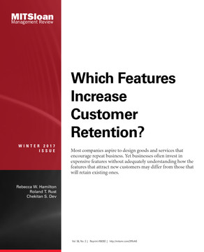 Which Features Increase Customer Retention?