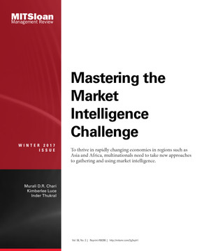Mastering the Market Intelligence Challenge