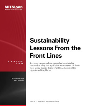 Sustainability Lessons From the Front Lines