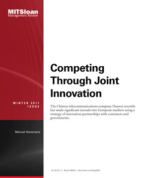 Competing Through Joint Innovation