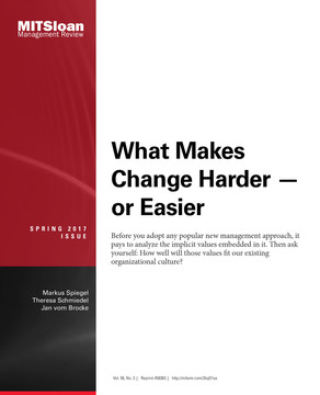 What Makes Change Harder or Easier