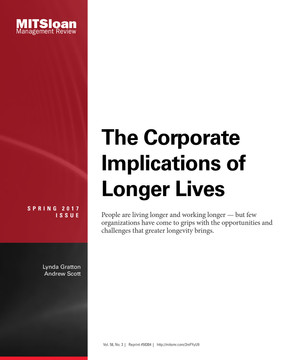 The Corporate Implications of Longer Lives