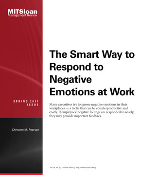 The Smart Way to Respond to Negative Emotions at Work