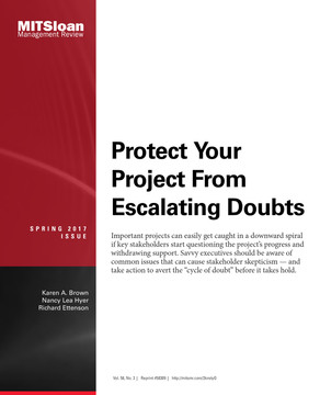 Protect Your Project From Escalating Doubts