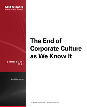 The End of Corporate Culture As We Know It