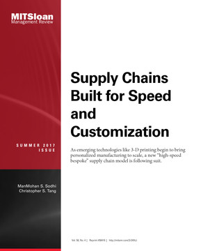 Supply Chains Built for Speed and Customization
