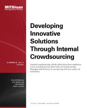 Developing Innovative Solutions Through Internal Crowdsourcing
