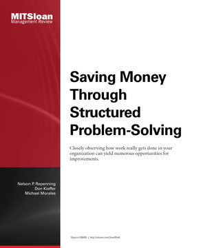 Saving Money Through Structured Problem-Solving