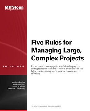 Five Rules for Managing Large, Complex Projects