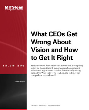What CEOs Get Wrong About Vision and How to Get It Right