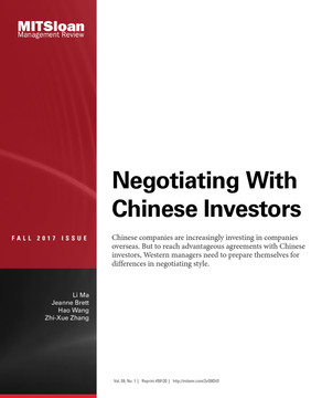 Negotiating With Chinese Investors