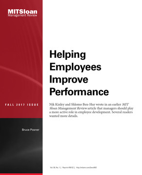 Helping Employees Improve Performance