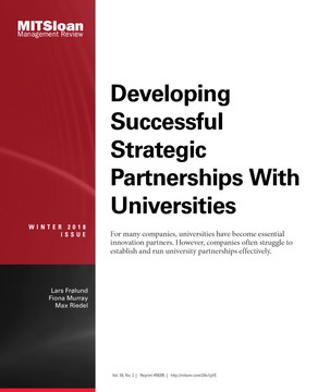 Developing Successful Strategic Partnerships with Universities