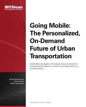 Going Mobile: The Personalized, On-Demand Future of Urban Transportation