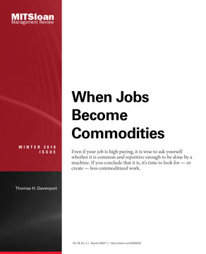 When Jobs Become Commodities