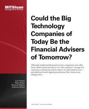 Could the Big Technology Companies of Today Be the Financial Advisers of Tomorrow?