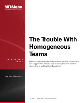 The Trouble with Homogeneous Teams