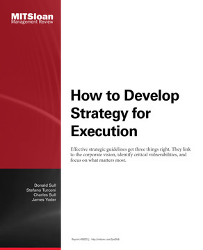 How to Develop a Strategy for Execution