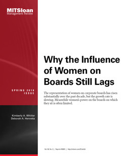 Why the Influence of Women on Boards Still Lags