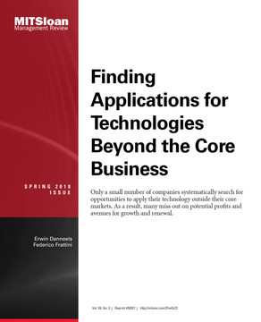 Finding Applications for Technologies Beyond the Core Business