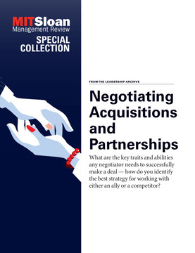 Negotiating Acquisitions and Partnerships