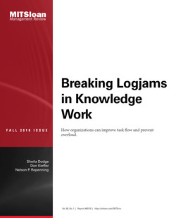 Breaking Logjams in Knowledge Work