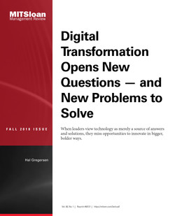 Digital Transformation Opens New Questions — and New Problems to Solve