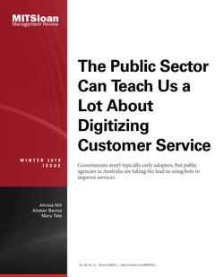 The Public Sector Can Teach Us A Lot About Digitizing Customer Service