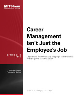 Career Management Isn't Just the Employee's Job