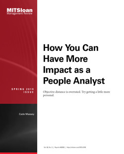 How You Can Have More Impact as a People Analyst