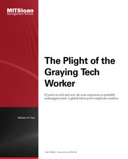 The Plight of the Graying Tech Worker
