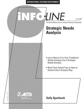 Strategic Needs Analysis—Instructional Systems Development