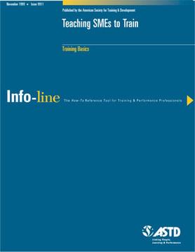 Teaching SMEs to Train—Training Basics